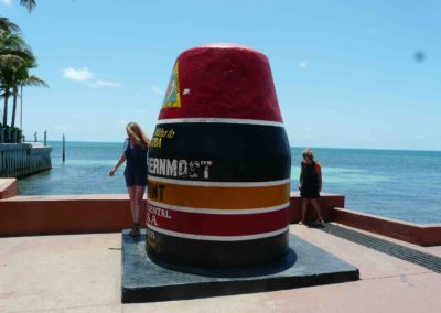 Key West– le southernmostpoint le point le plus au sud des Etats unis